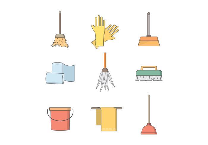 Outils de nettoyage gratuits Vector