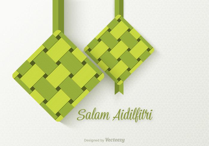 Fond d'écran de Salam Aidilfitri gratuit vecteur