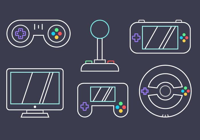 Vecteur de jeux vidéo gratuit
