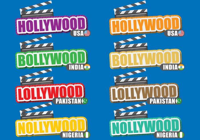 Titres de villes de film vecteur