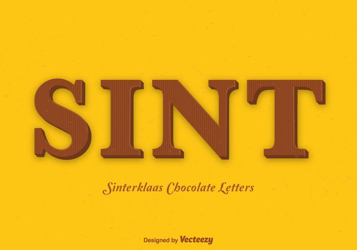 Chocolettes gratuites de Sinterklaas Vector