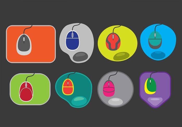 Icônes de tapis de souris vecteur