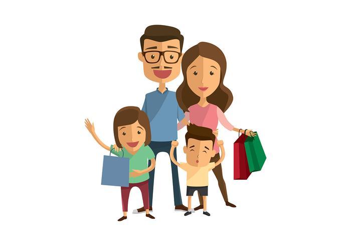 Vecteur Shopping familial