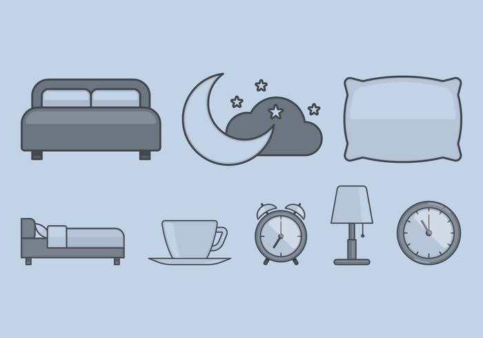 Icône du temps du lit vecteur