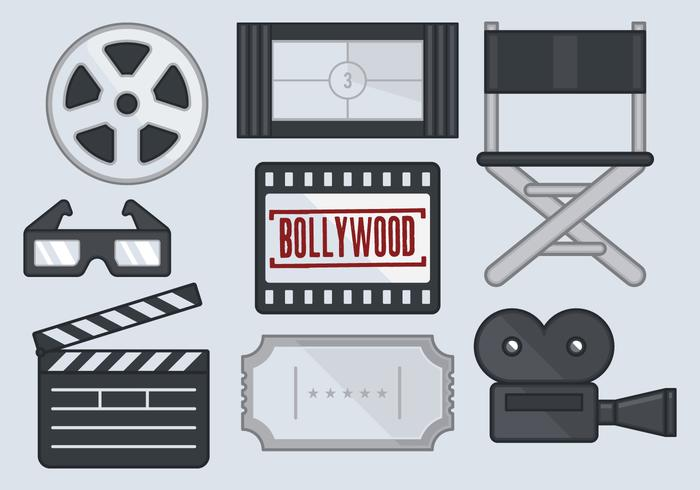 Icône de film de Bollywood vecteur