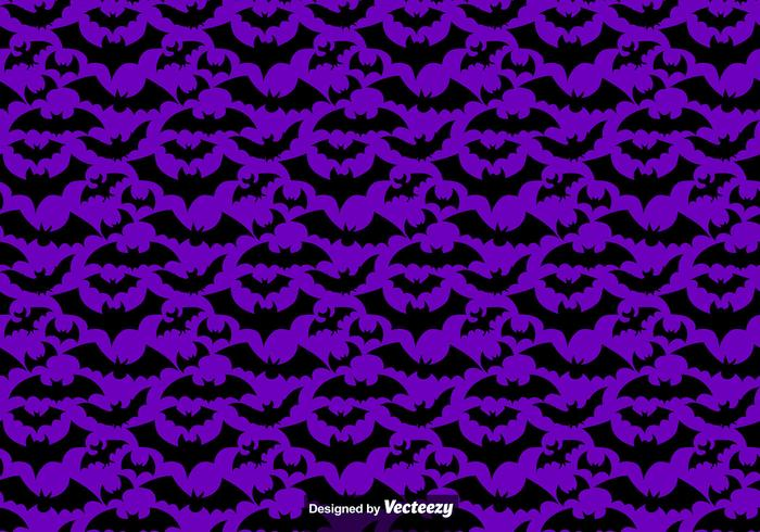 Vector seamless pattern of black bats Silhouettes