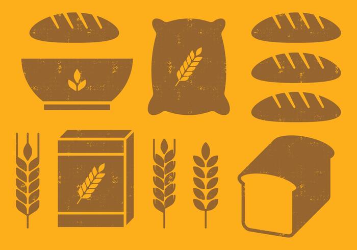 Icônes de céréales vecteur