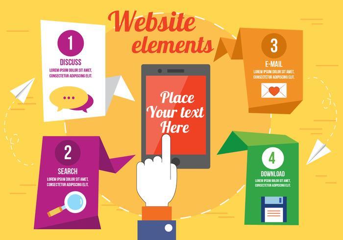 Éléments gratuits du site Web vectoriel