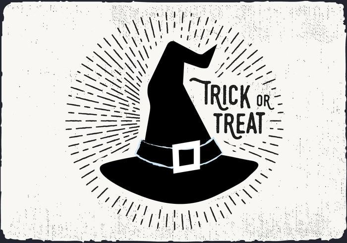 Illustration de trick or treat de sorcière vecteur