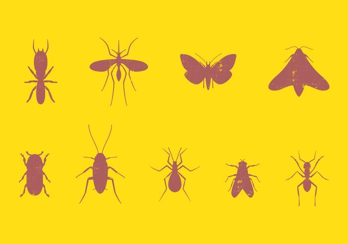Ensemble d'insectes nuisibles vecteur