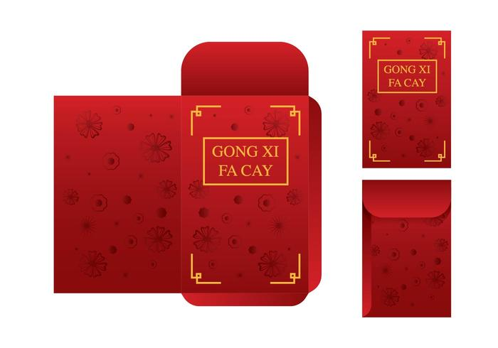 Vector de modèle de paquet rouge gratuit