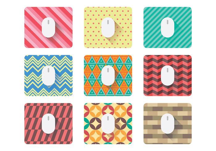 Vecteur d'icônes de tapis de souris gratuit