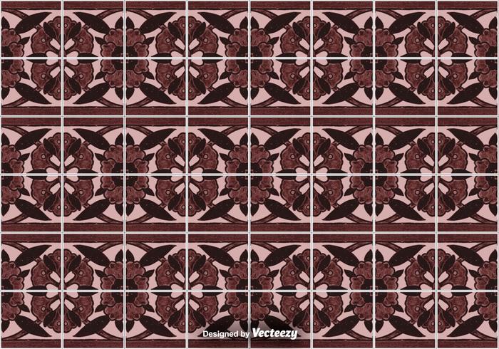 Plancher de carreau - motif ornemental de vecteur