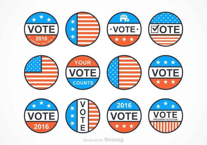 Badges présidentiels vectoriels vecteur
