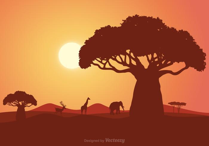 Paysage vectoriel sud-africain