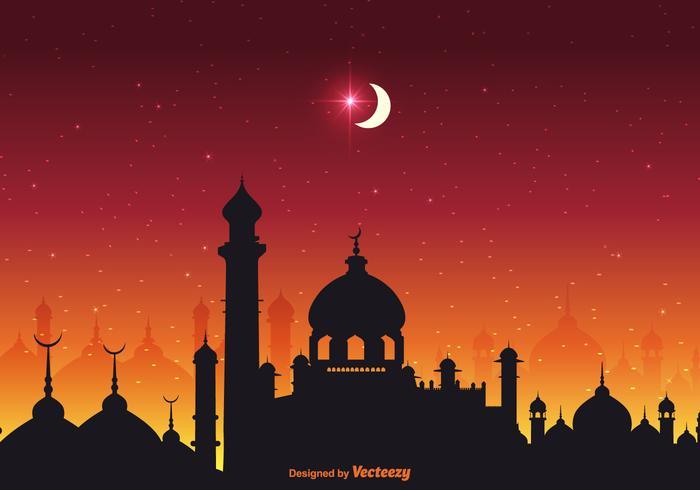 Fond de vecteur des nuits Arabian Nights