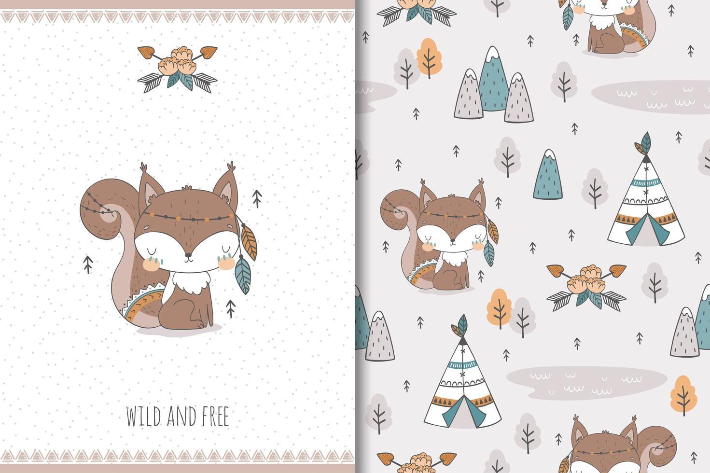 écureuil sauvage et libre vecteur