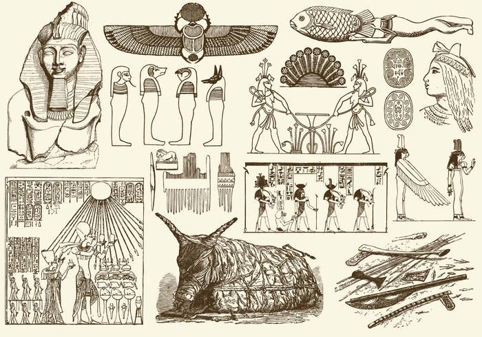 Sépia art d'Egypte vecteur