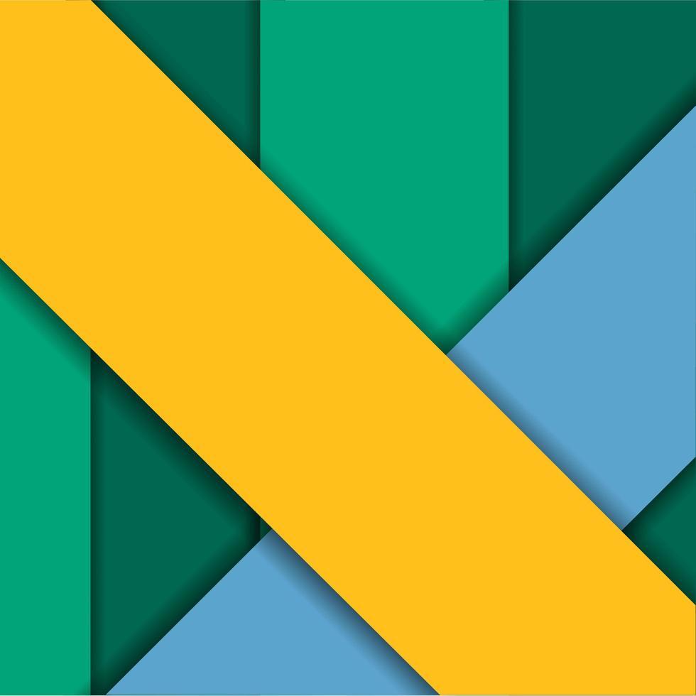 fond géométrique jaune, vert et bleu vecteur