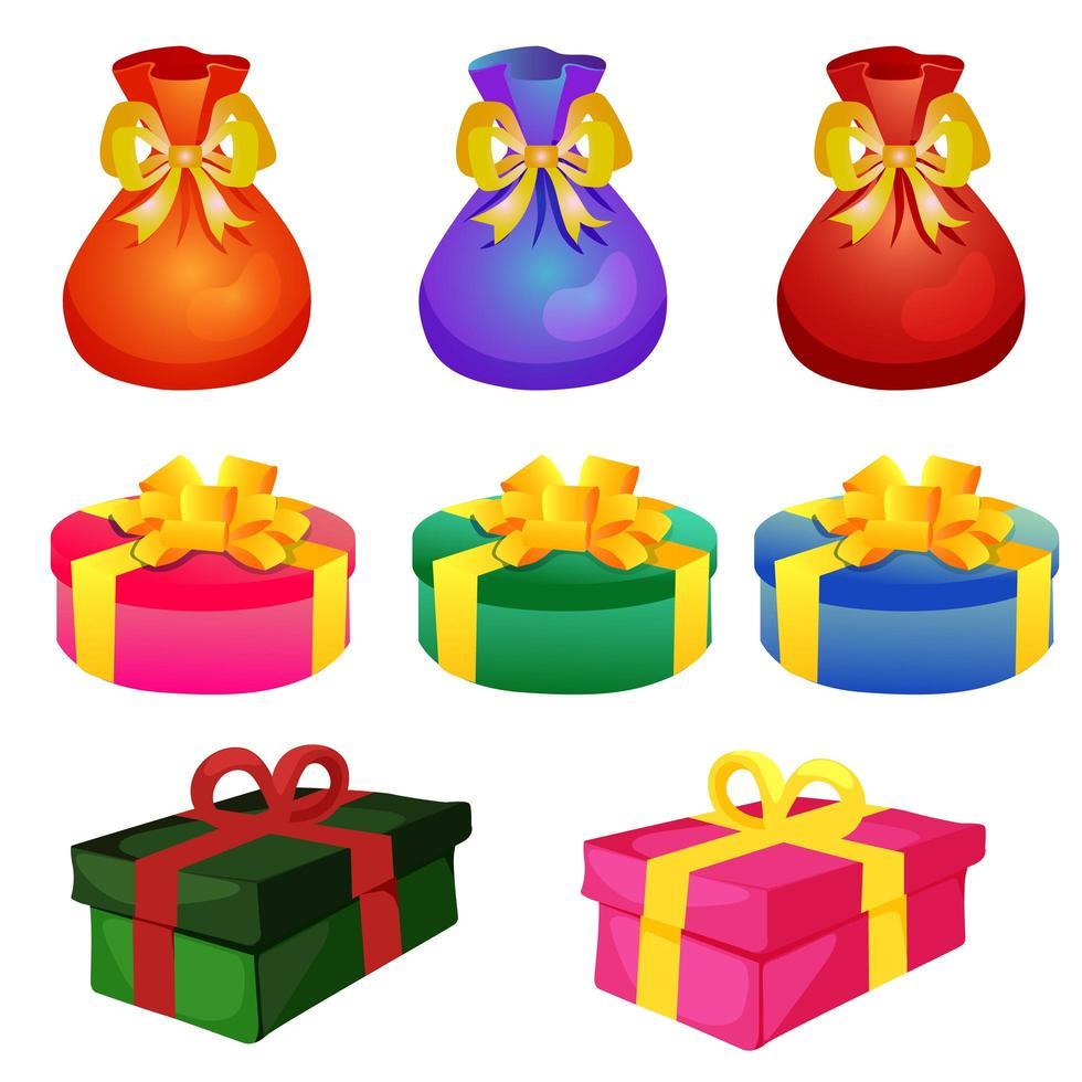 coffret cadeau de Noël vecteur