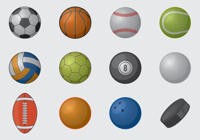 Boules de sport vecteur