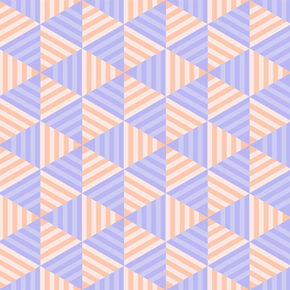 modèle sans couture de triangle rayé pastel géométrique vecteur