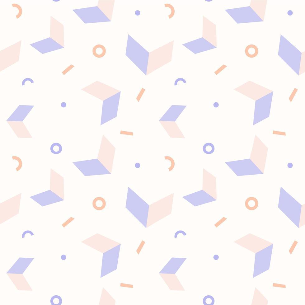 modèle sans couture de formes géométriques pastel abstraites vecteur