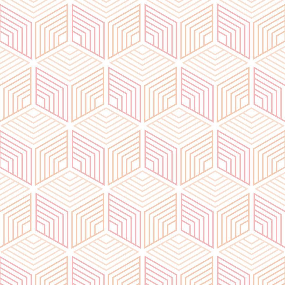 modèle sans couture de lignes géométriques cubes vecteur