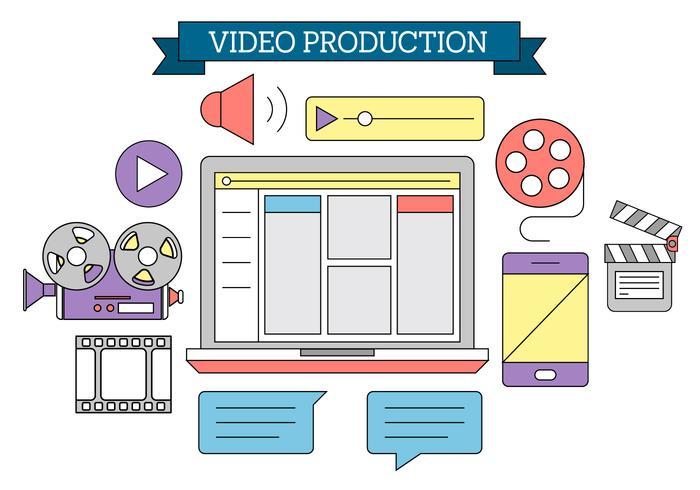 Icônes gratuites de production vidéo vecteur