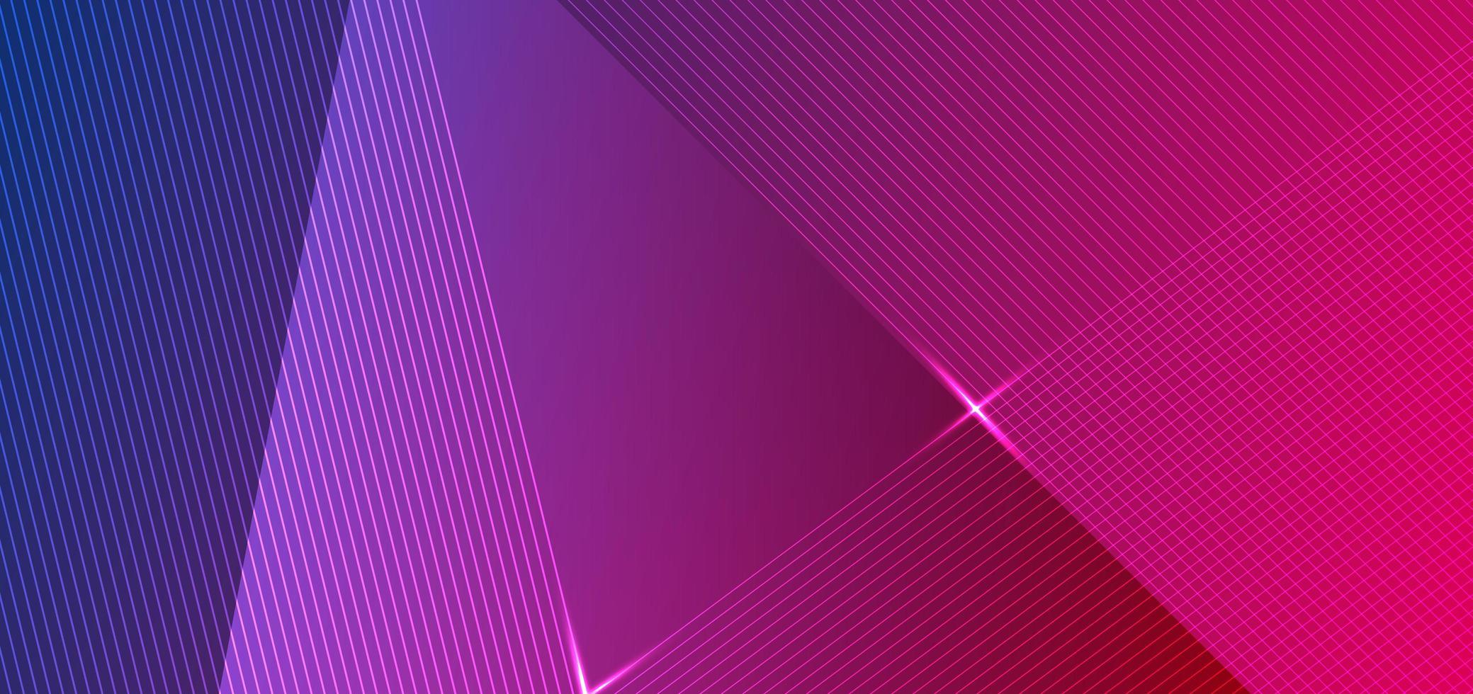 conception abstraite de lignes diagonales dégradées bleues et roses vecteur