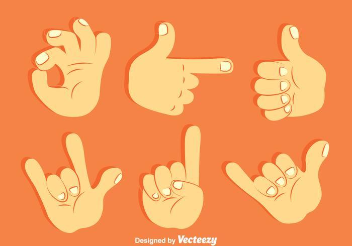 Ensemble de vecteur de collection Gesture à main