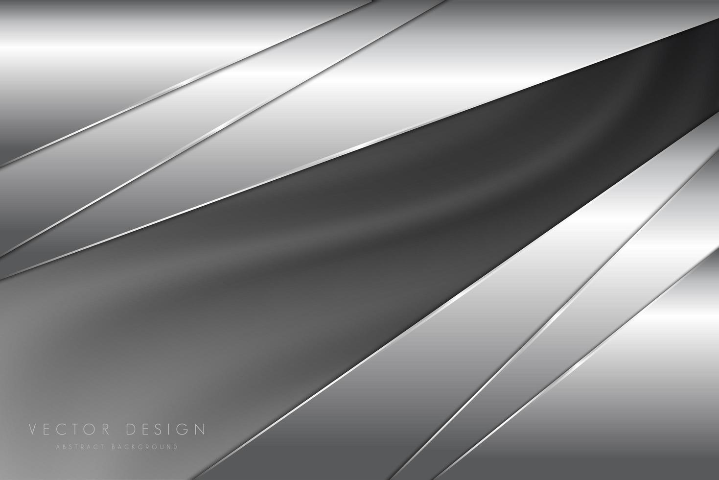 panneaux coudés gris métallisés à texture de soie vecteur