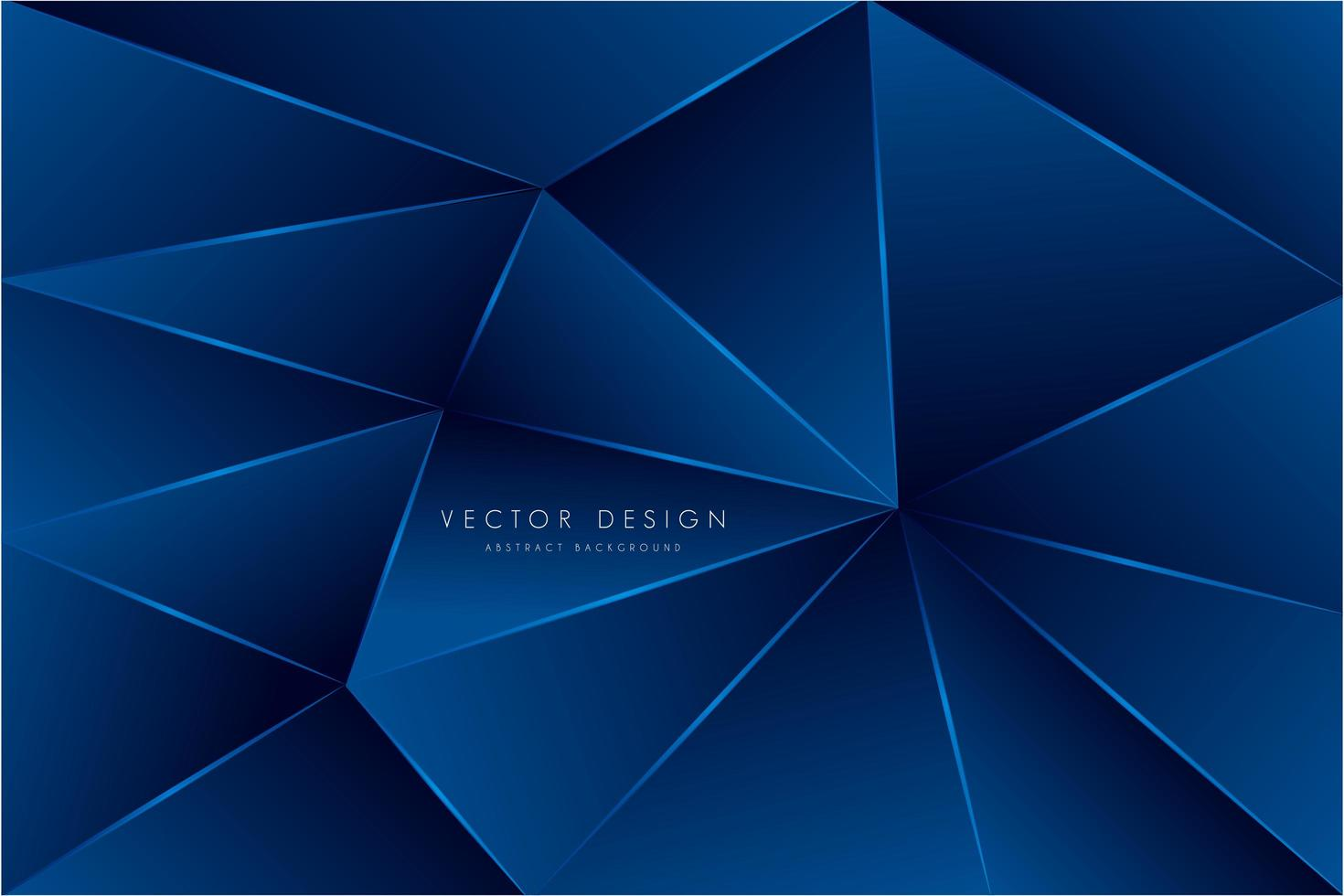 conception de polygone bleu métallique vecteur