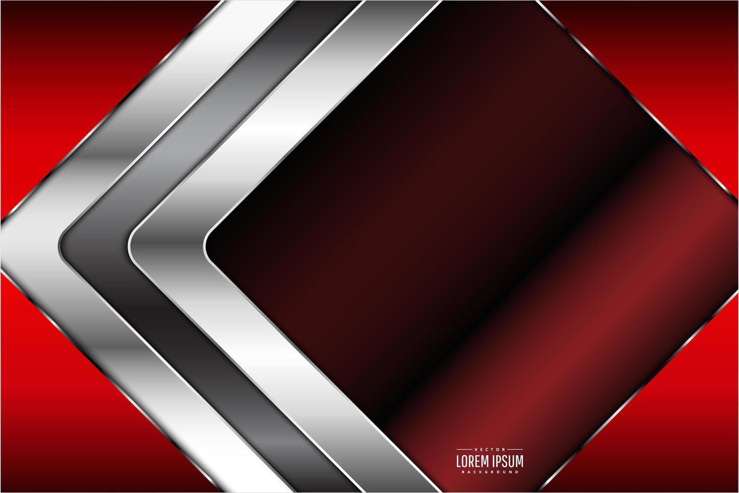conception de diamant rouge, chrome métallique vecteur