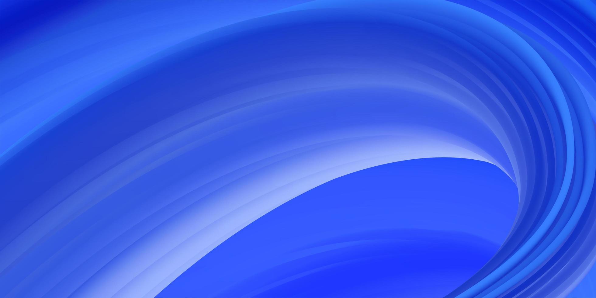 conception abstraite de vague bleue vecteur