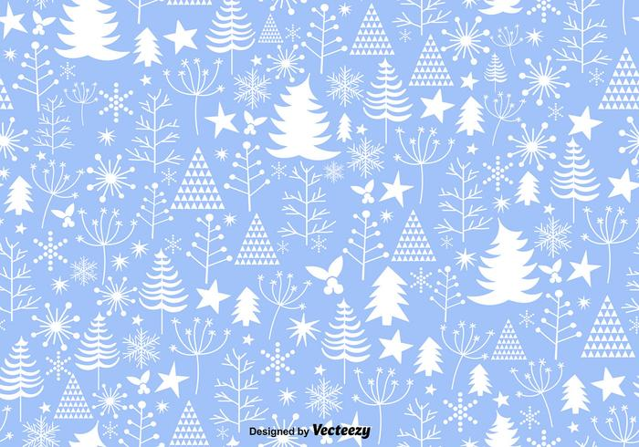 Bleu hiver Noël seamless pattern vecteur