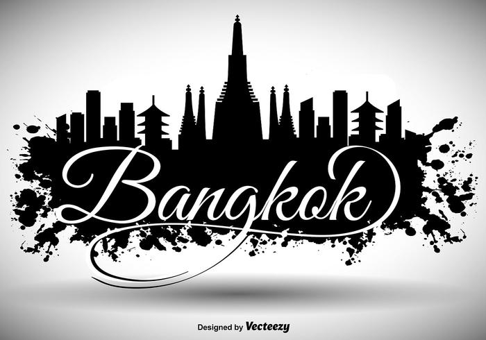Fond d'écran de Bangkok Skyline vecteur
