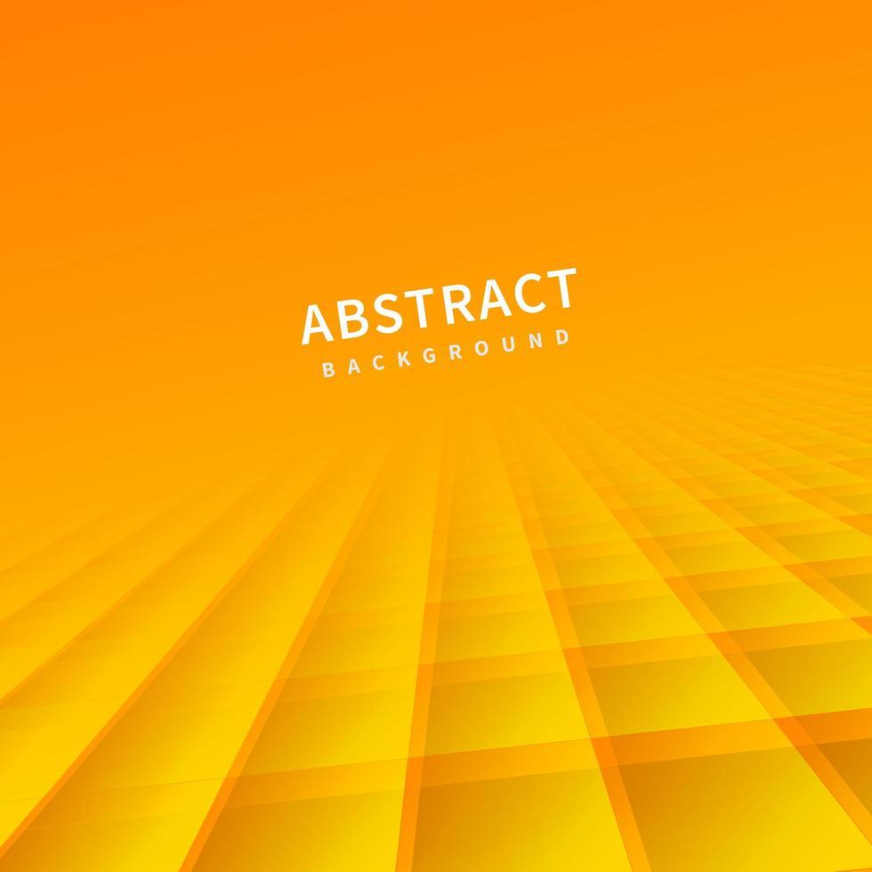 fond abstrait, carrés orange vecteur
