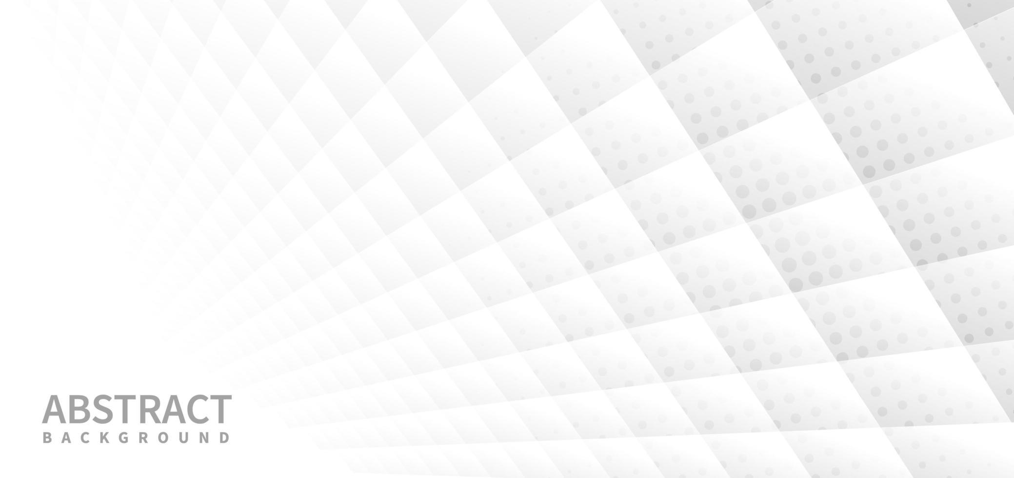 bannière abstraite avec fond de motif géométrique blanc vecteur