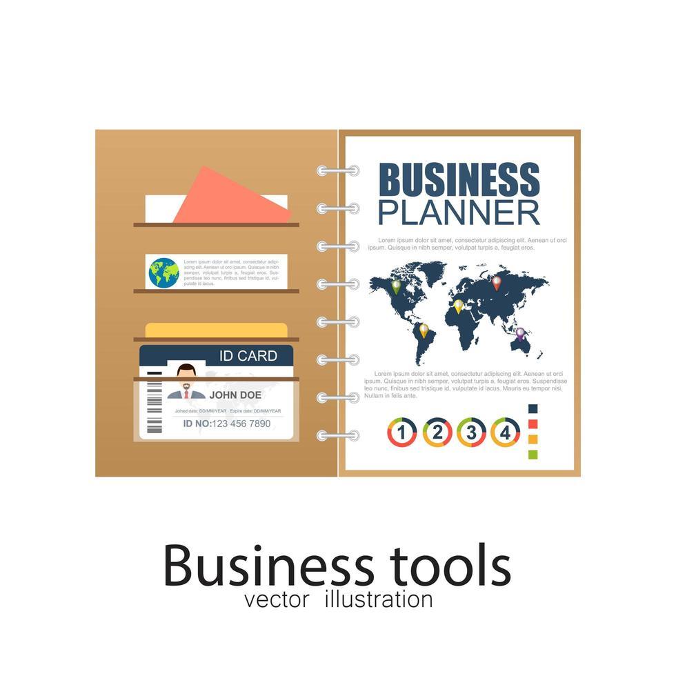 document de planificateur d'entreprise vecteur