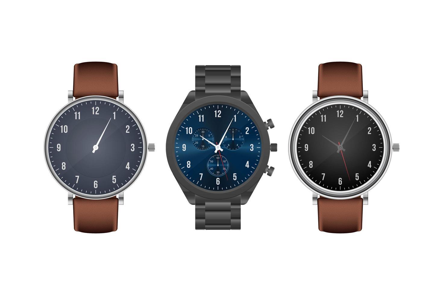 montre-bracelet classique réaliste vecteur