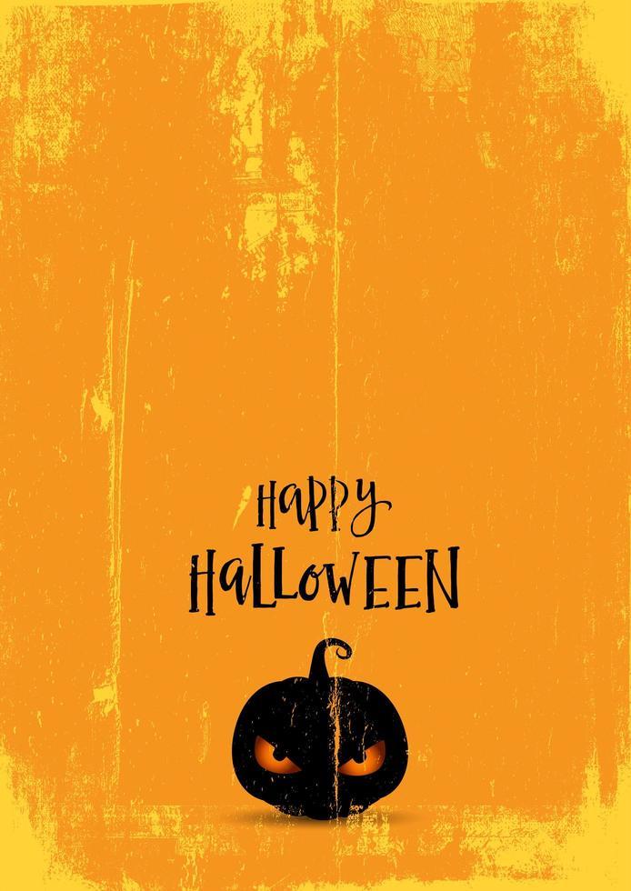 fond d'halloween avec citrouille maléfique vecteur