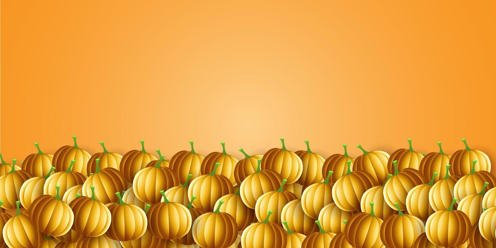 bannière de citrouille dhalloween vecteur