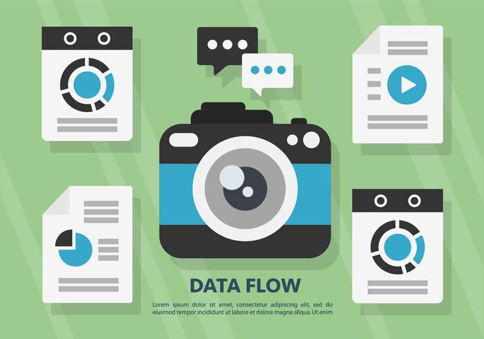 Illustration vectorielle gratuite de flux de données vecteur