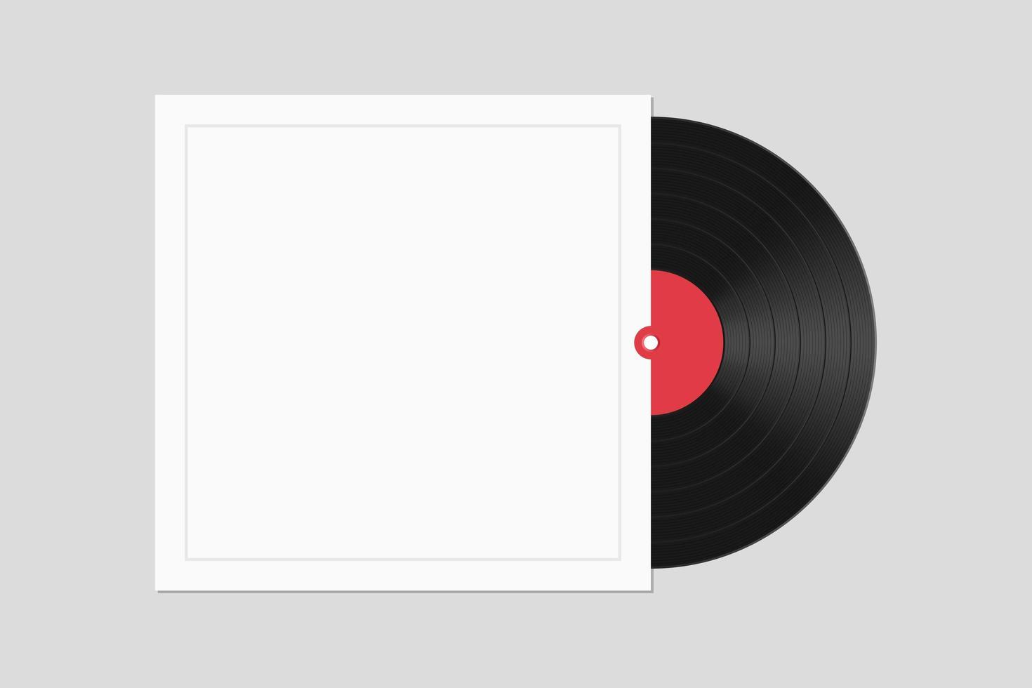 disque vinyle avec couvercle isolé vecteur