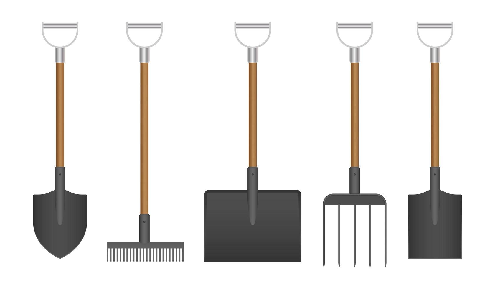 ensemble d'outils de jardin vecteur