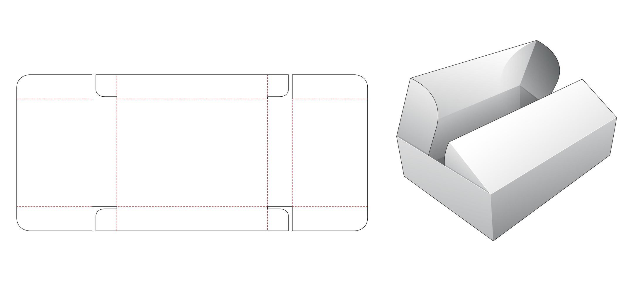 2 flip top box vecteur