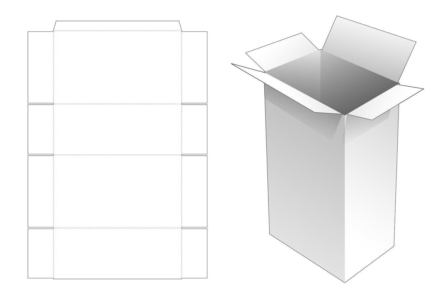 grande boîte aux lettres avec poignées vecteur