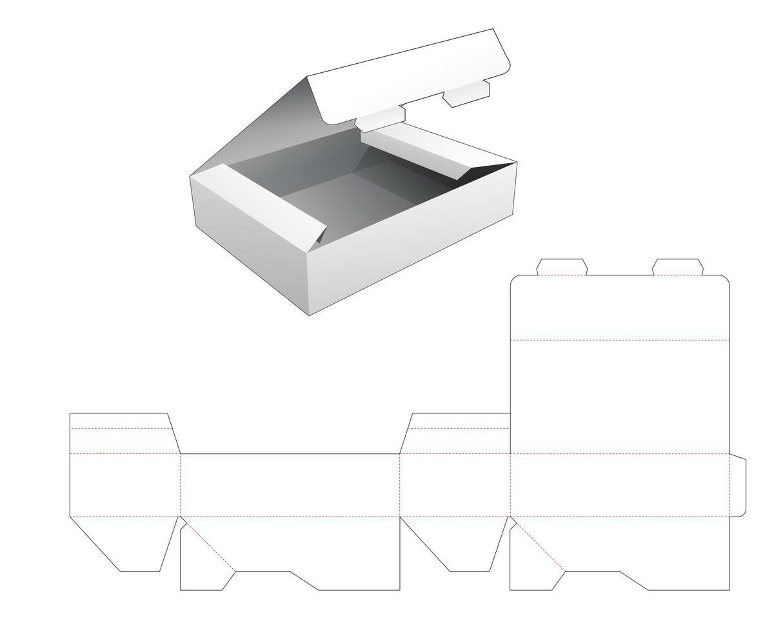 Boîte d'emballage à rabat 1 pièce vecteur