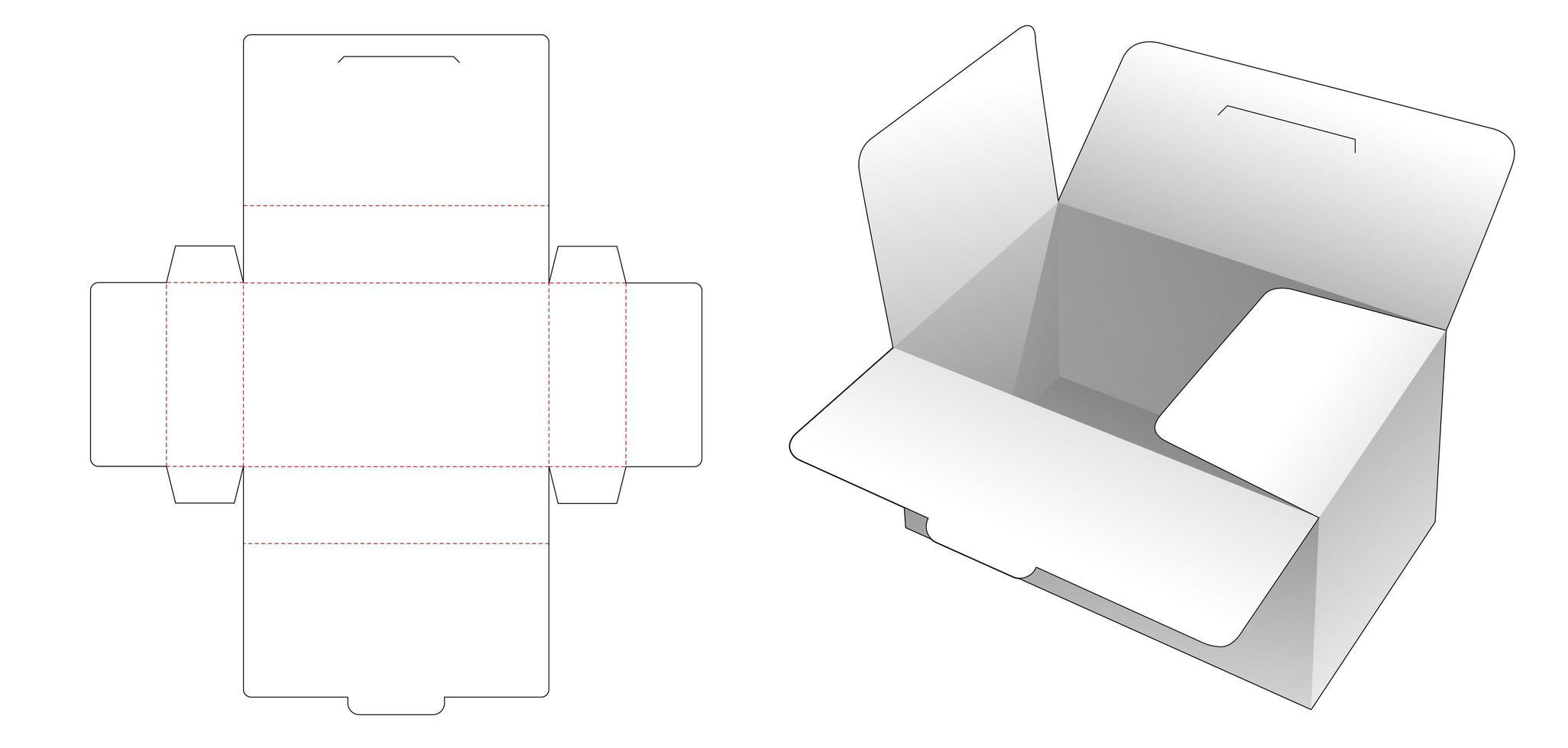 boîte de rangement avec couvercles et rabats vecteur